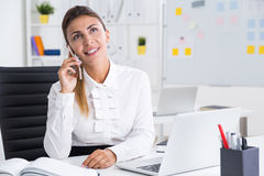Business lady planning vacation Royalty Free Stock Image