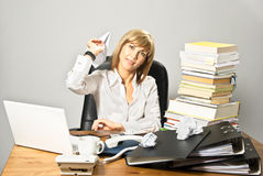 Business Lady Playing Royalty Free Stock Photos