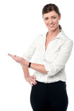 Business lady presenting something Royalty Free Stock Images