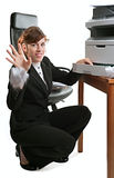 Business lady with a printer Stock Photography