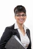 Business lady smiles Stock Photo