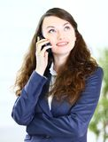 business lady talking Stock Images