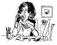 Business lady talking by phone Royalty Free Stock Images