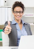 Business lady thumbs up Royalty Free Stock Photography