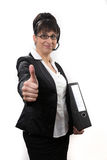 Business lady thumbs up Stock Photos