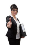Business lady thumbs up Royalty Free Stock Image