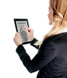 Business lady with touch pad Royalty Free Stock Photography