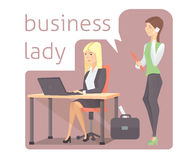 Business lady vector illustration. Business lady cartoon vector illustration Royalty Free Stock Images