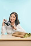 Business lady wants to have a rest Stock Photography
