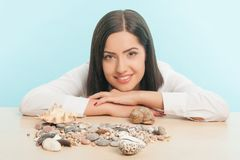 Business lady wants to have a rest Stock Image