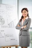 Business lady at the whiteboard Stock Images