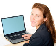 Business lady at work Stock Photo