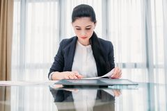 Business lady work manager documents office royalty free stock photo