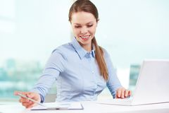 Business lady at work Stock Image