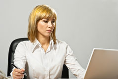Business Lady Working Stock Photography