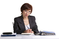 Business lady working Stock Images