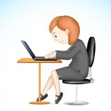 Business Lady working on Laptop Stock Images