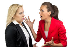 Business lady yelling at employee Stock Images