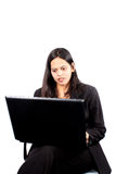 Business on Laptop Royalty Free Stock Images