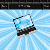 Business laptop blue abstract background royalty free illustration
