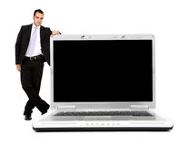 Business laptop computer Stock Image