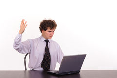 business laptop man Στοκ Εικόνες