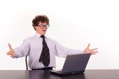 business laptop man Στοκ εικόνα με δικαίωμα ελεύθερης χρήσης