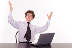 business laptop man Στοκ φωτογραφία με δικαίωμα ελεύθερης χρήσης