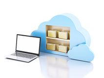 Business laptop pc. Cloud computing concept. Royalty Free Stock Photos