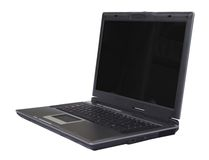 Business laptop in perspective Royalty Free Stock Photos