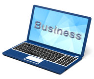 Business On Laptop Showing Commerce And Trade Royalty Free Stock Photo