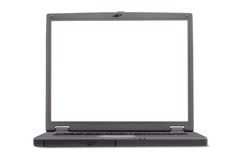 Business laptop - space for writing Stock Image