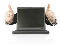 Business laptop of success Stock Photo