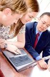 business laptop team 库存照片