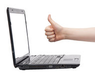 Business Laptop Thumb Up Royalty Free Stock Photo