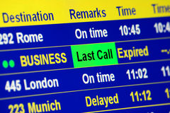 Business Last Call Royalty Free Stock Photo