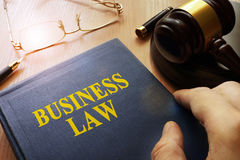 Business law. Royalty Free Stock Image