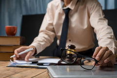 Business lawyer man person working in the office. Royalty Free Stock Photo