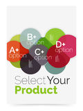 Business layout - select your product with sample options. A4 size geometric template. Brochure - flyer, presentation or web design background Stock Images