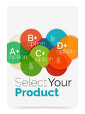Business layout - select your product with sample options Royalty Free Stock Images