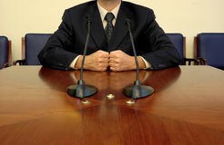 Business leader. Leads meeting,business concept Stock Photography