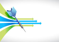 Business leader arrow illustration Royalty Free Stock Photos