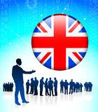Business Leader with British Internet Button Royalty Free Stock Images