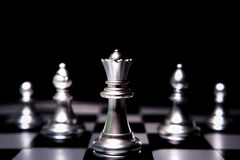 Business leader concept. Chess board game. Stock Photo