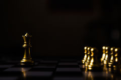 Business leader concept. Chess board game. Business leader concept. Chess board game competition Royalty Free Stock Photos