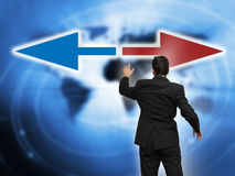 Business leader and decision making process. With arrows concept Royalty Free Stock Photography
