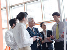 Business leader making presentation and brainstorming Royalty Free Stock Images