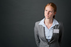 Business Leader with Name Tag Stock Image