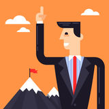 Business leader near the mountains Royalty Free Stock Photography