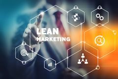 Lean marketing concept image stock images